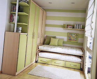 Green and white teenage bedroom ideas