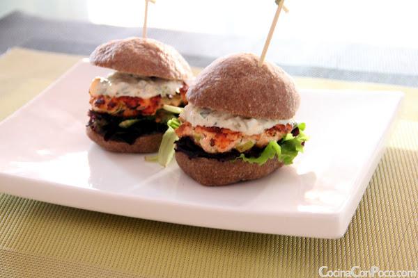 receta hamburguesa de salmon