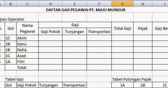 Membuat A2 Dan Kwitansi Spj Bos Dengan Cepat Dengan Rumus Vlookup Excel Gugus Ra Kartini