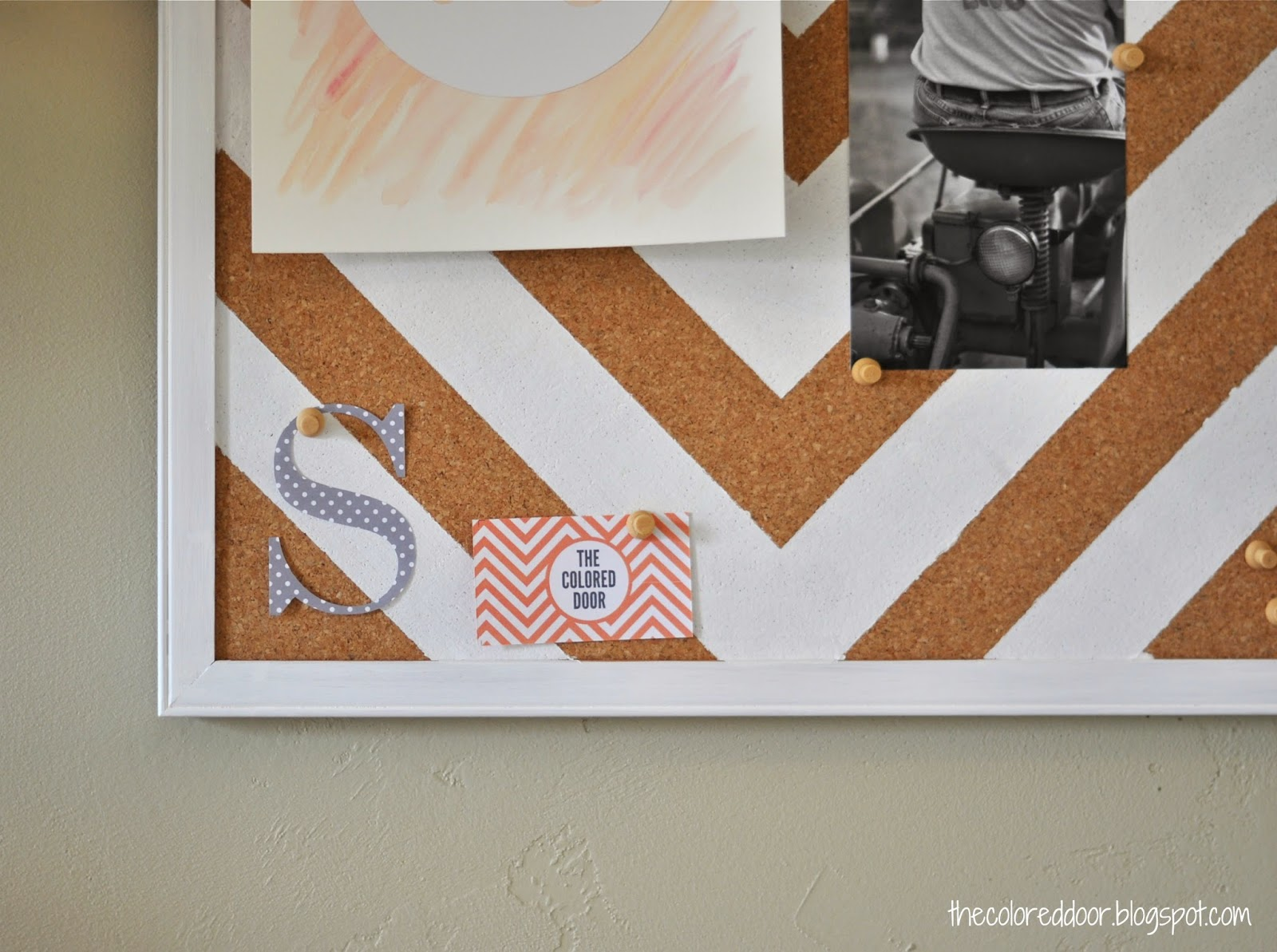 painted bulletin board | the colored door
