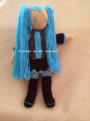 Crochet Patterns Only Blogspot : ... Patterns: Mu?eca Hatsune: free Amigurumi Manga crochet pattern