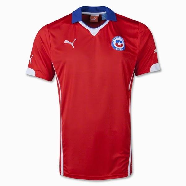 Jersey Negara Chili - Piala Dunia 2014