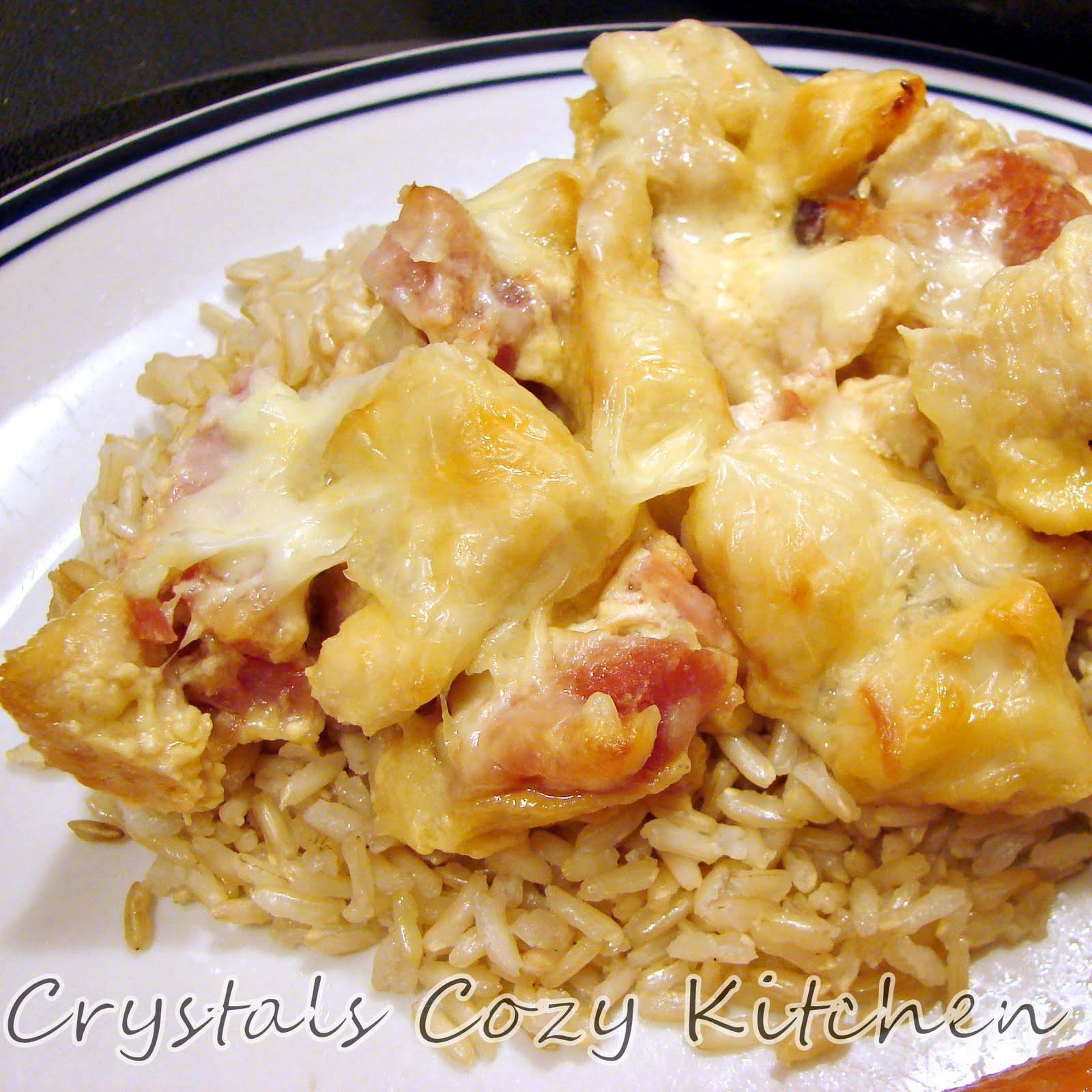 Crystal 39 S Cozy Kitchen Chicken Cordon Bleu Casserole