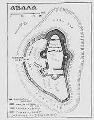 Skica plana srednjovekovnog utvrđenog grad Žrnov