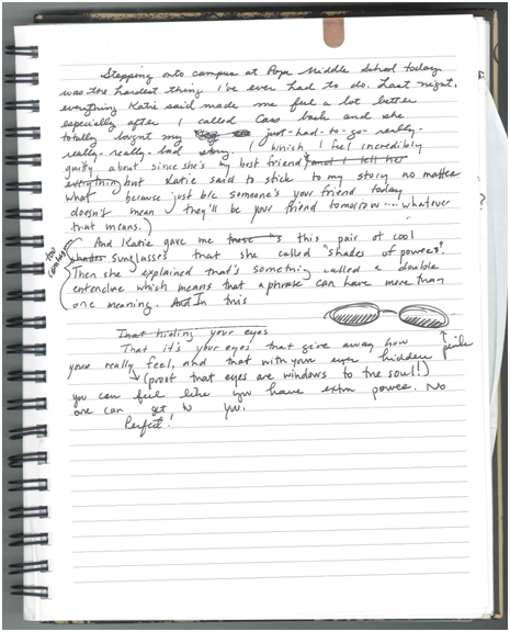 Open Notebook With Writing A picadilly notebook i wasOpen Notebook With Writing