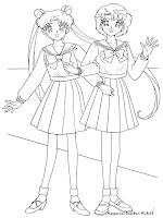 Gambar Mewarnai Para Gadis Sailor Moon