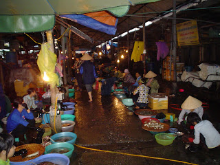 Halong Bay town outdoor market