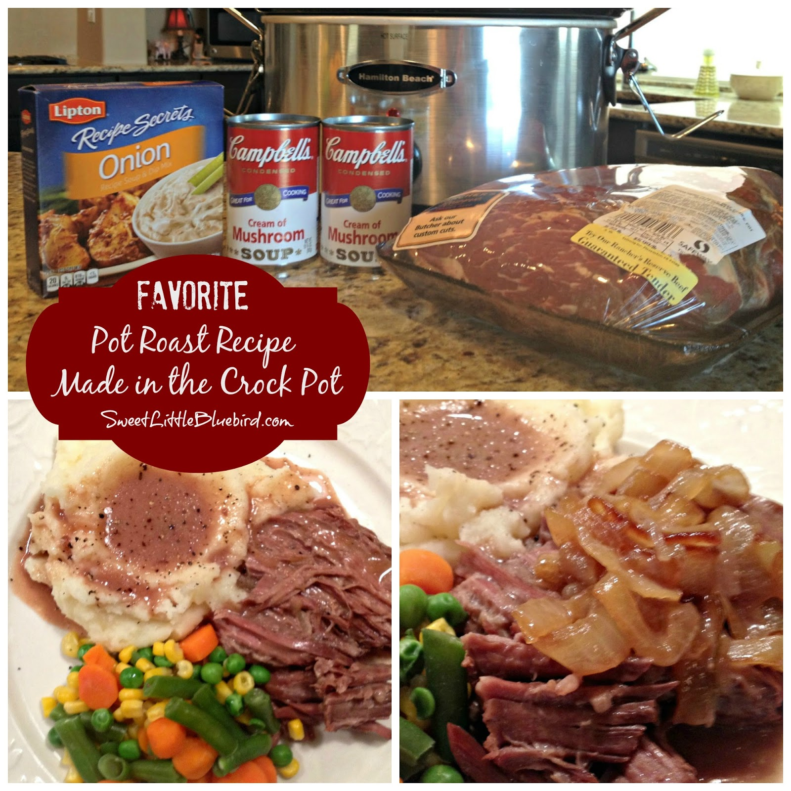 Favorite Pot Roast Recipe Made In The Crock Pot Sweet Little
