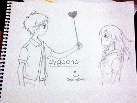 Sketch Menggunakan Pensil