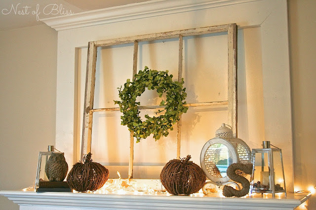 Fall / Autumn Fireplace Mantel - Nest of Bliss