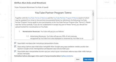 Youtube Partner Program Terms