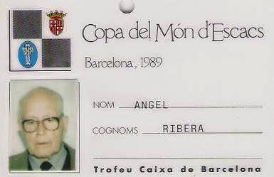 Pase de entrada libre a la Copa del Mundo de Ajedrez de 1989 para Ángel Ribera