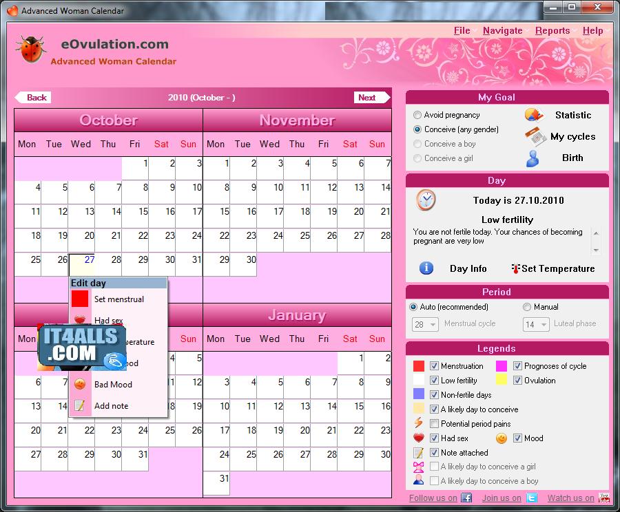 Menstrual Calendar 2014 | newhairstylesformen2014.com