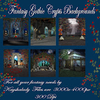 fantasy backgrounds Gothic crypts cover pack