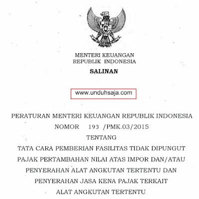 PMK Nomor 193 Tahun 2015