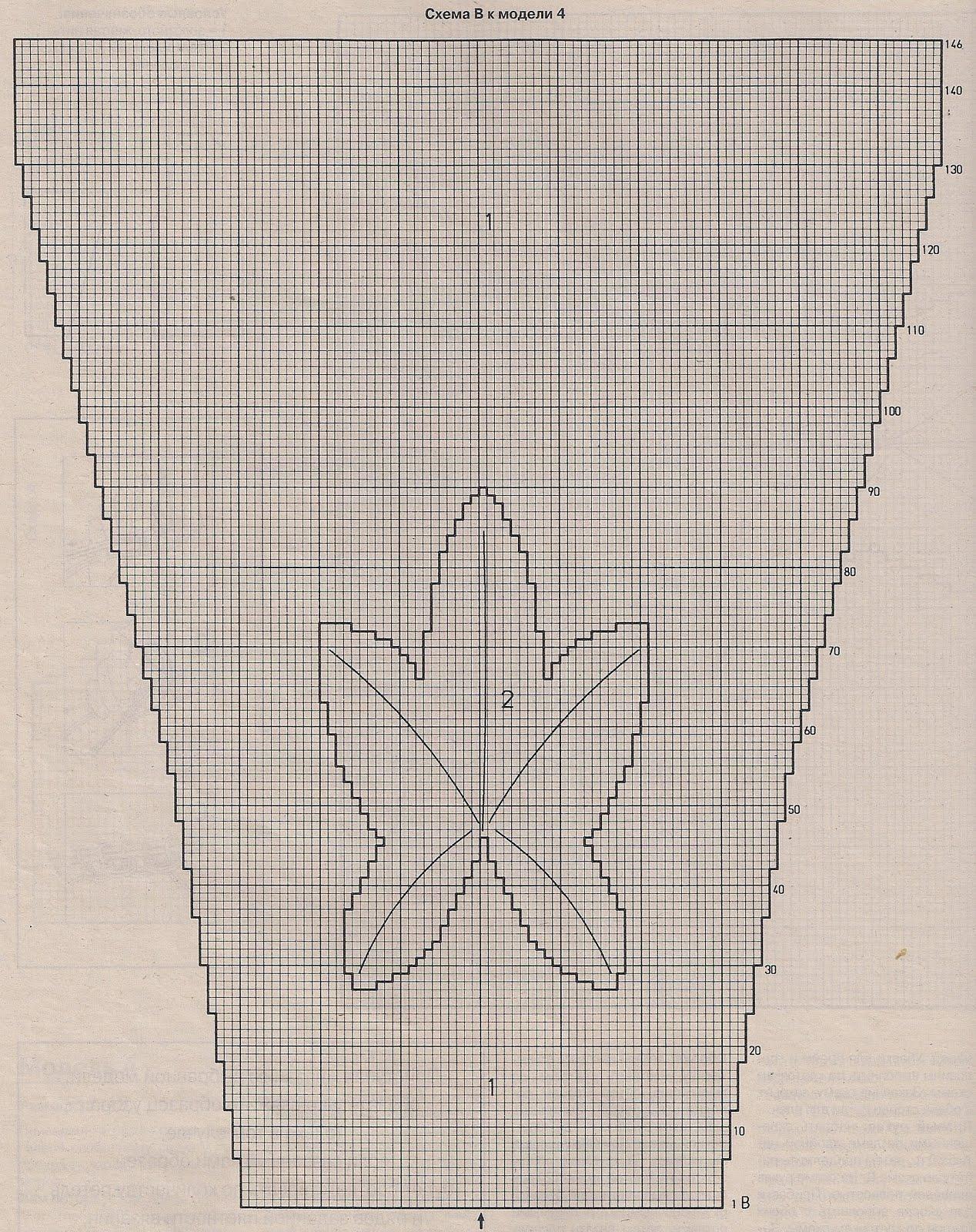 Копилка узоров - Спицами: листики