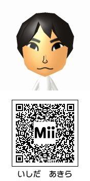 石田彰のMii QRコード トモダチコレクション新生活