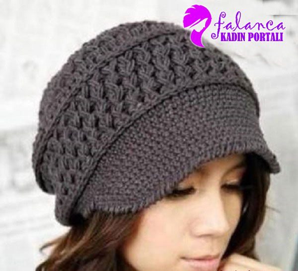 Crocheting Hats Patterns : Zurbahan Blog: Casquette purple, crochet hat free patterns