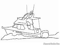 Gambar Kapal Laut Speed Boat Untuk Diwarnai