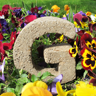 Blooming Marvelous Garden Letters