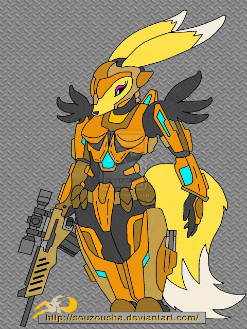 Renamon 3-VR battle suit C por Souzousha