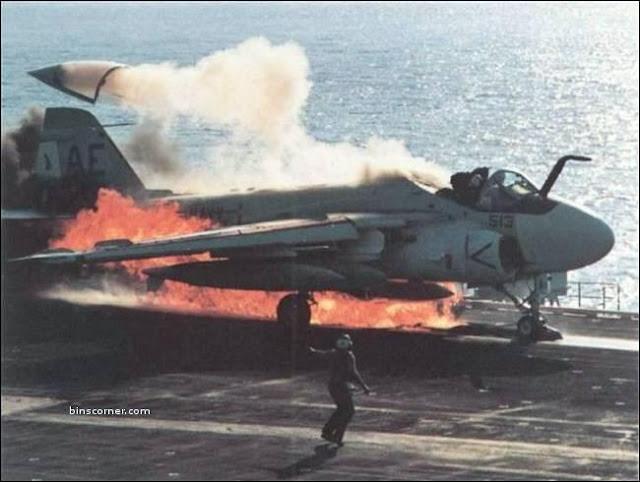 aircraft got fire