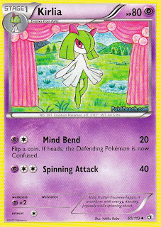 Kirlia Legendary Treasures Pokemon Card