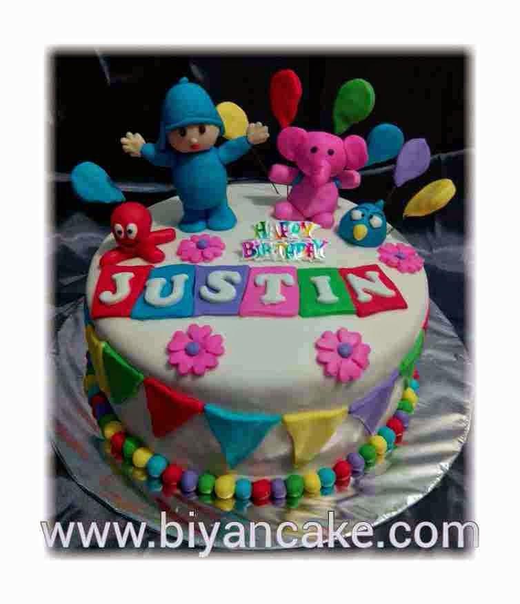 Kue tart Pocoyo ~ Justin