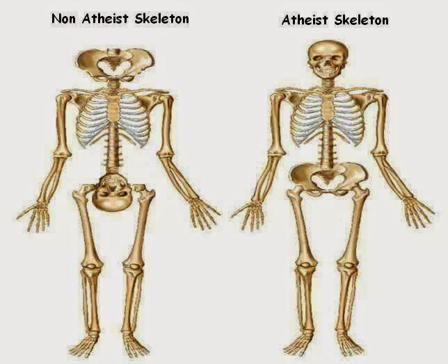 Funny Non-Atheist Skeleton Joke Picture