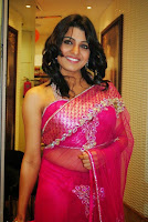 Tashu Kaushik transparent saree navel still - 2