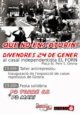 Alerta Solidària + Casal Independentista El Forn + Grup Antirepressiu