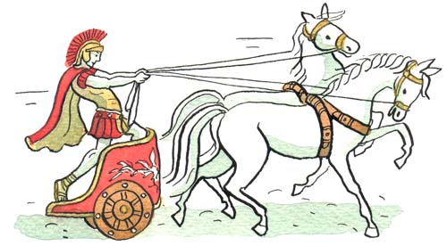 how to draw a chariot clipart