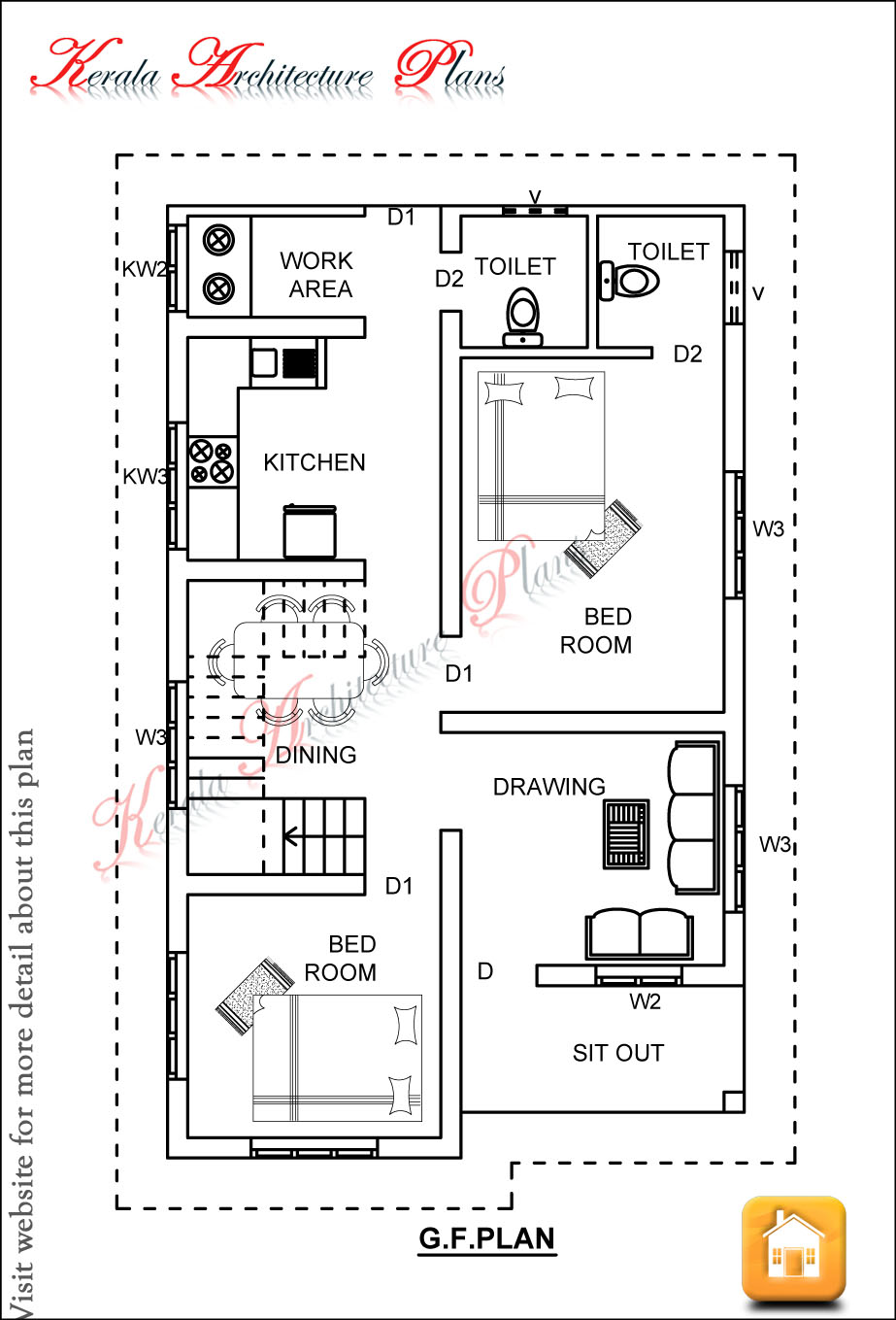1200 Square Foot House Plans http://www.architecturekerala.com/2012/12/3-bedroom-house-plan-in-1200-square-feet.html