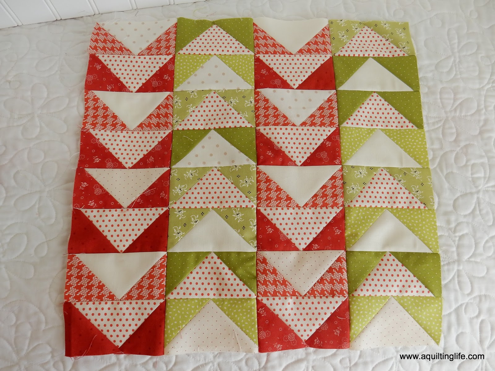 Red and Green Quilt Blocks | A Quilting Life - a quilt blog : red and green quilts - Adamdwight.com