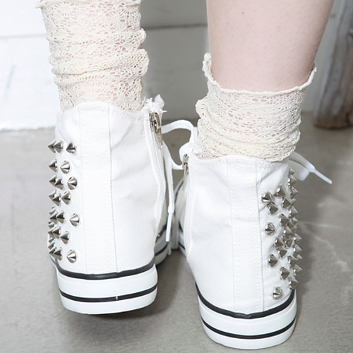 Studded Hi-Top Sneakers