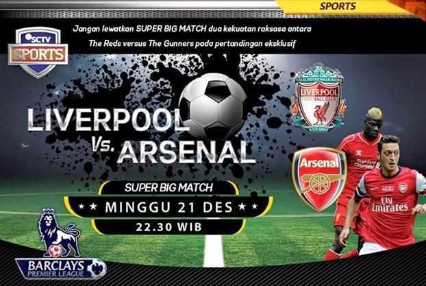 Hasil Skor Akhir: Liverpool vs Arsenal Liga Primer Inggris (Minggu, 21 Desember 2014)