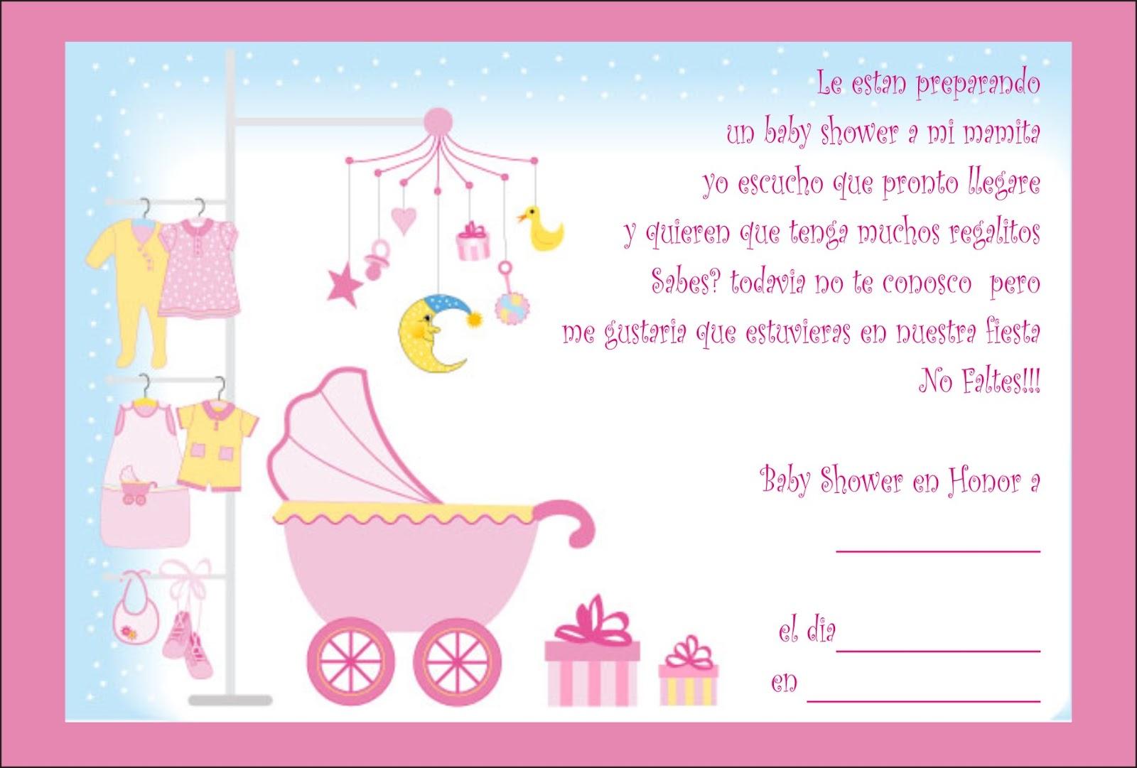 Invitacion Baby Shower Niña