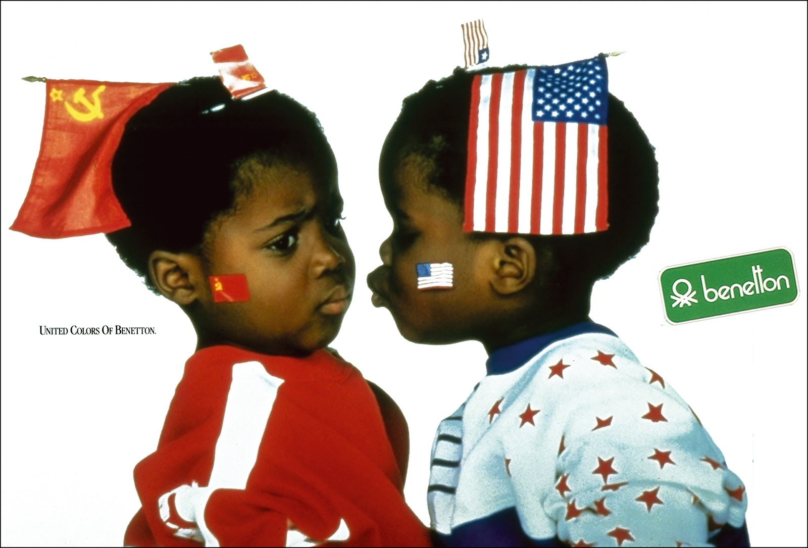 Wonders of the history of graphic design visual for United colors of benetton usa