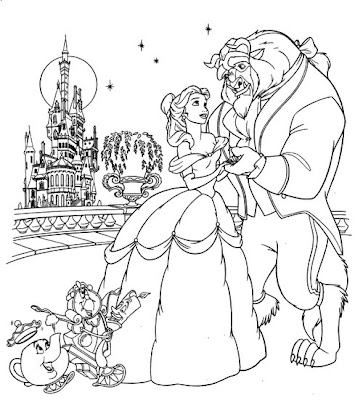 baby disney princess belle coloring pages free - Baby Princess Belle Coloring Pages