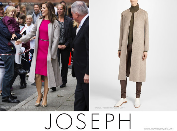 Crown Princess Mary chose a JOSEPH Double Cashmere Oslo Coat