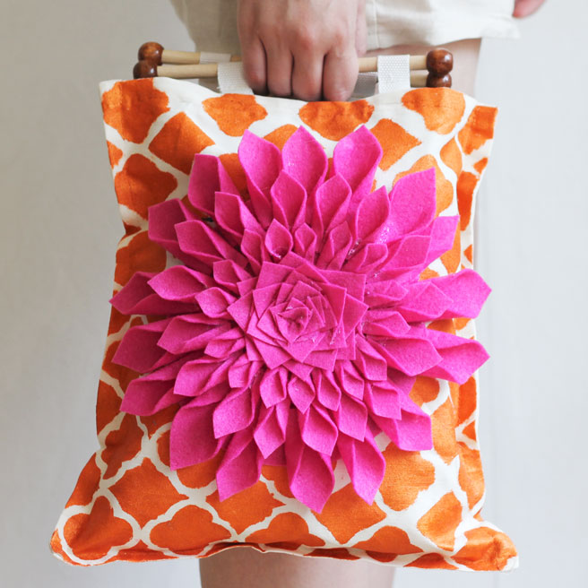 restyled canvas tote bag