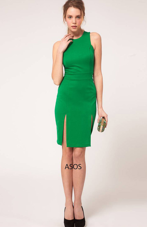 ASOS Pencil Dress with Double Split