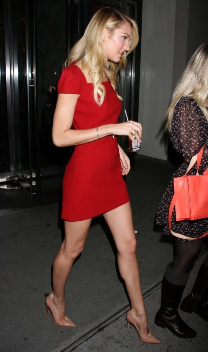 Candice+Swanepoel+Leggy,+Out+in+NYC+(6) Candice Swanepoel is Looking Absolutely Gorgeous in Red Dress