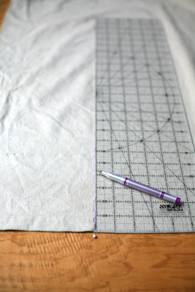 Fold The Curtain Along The Fabric Pen Or Pin Line.