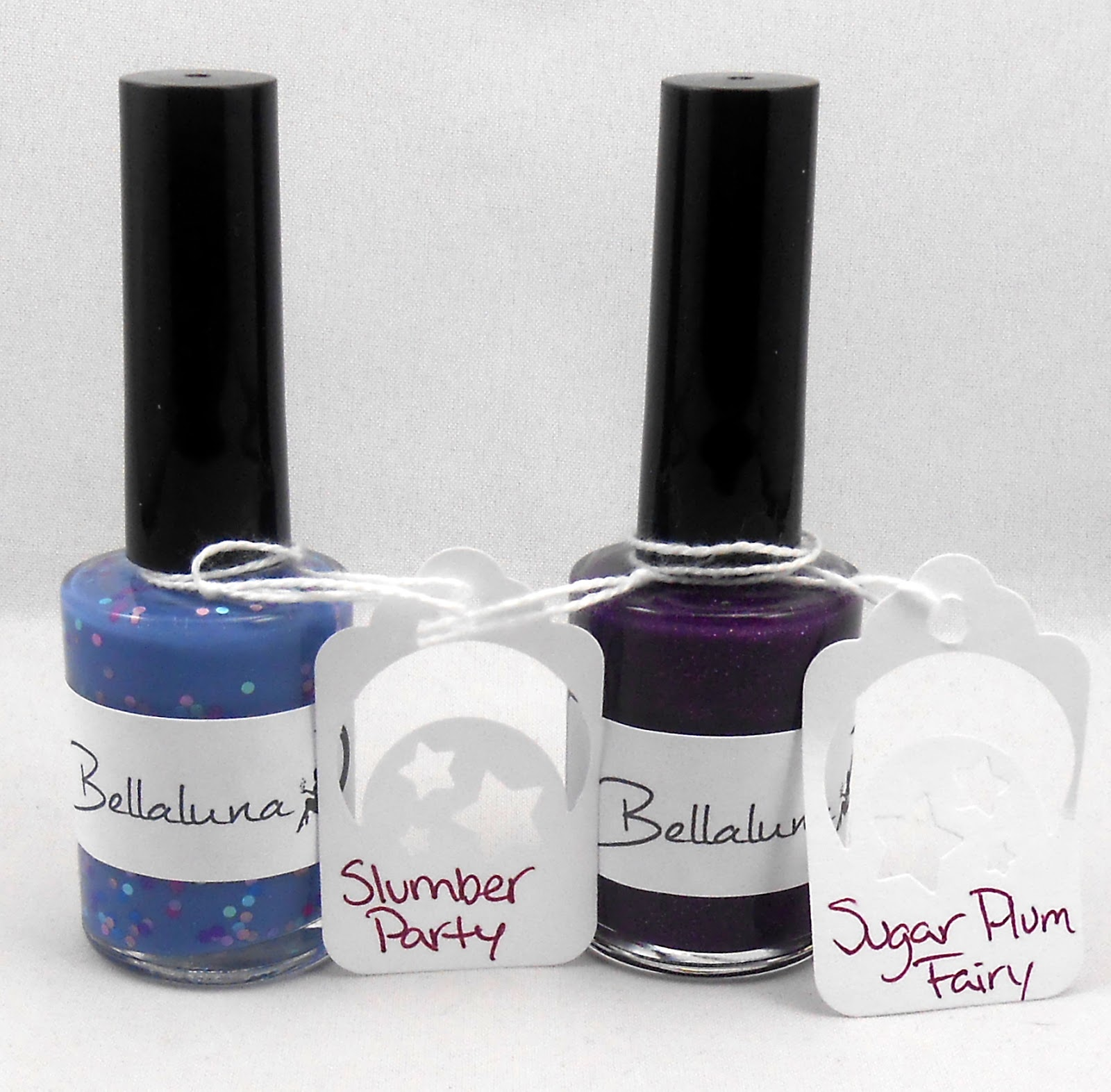 indie nail polish Bellaluna, slumber party and sugar plum fairy