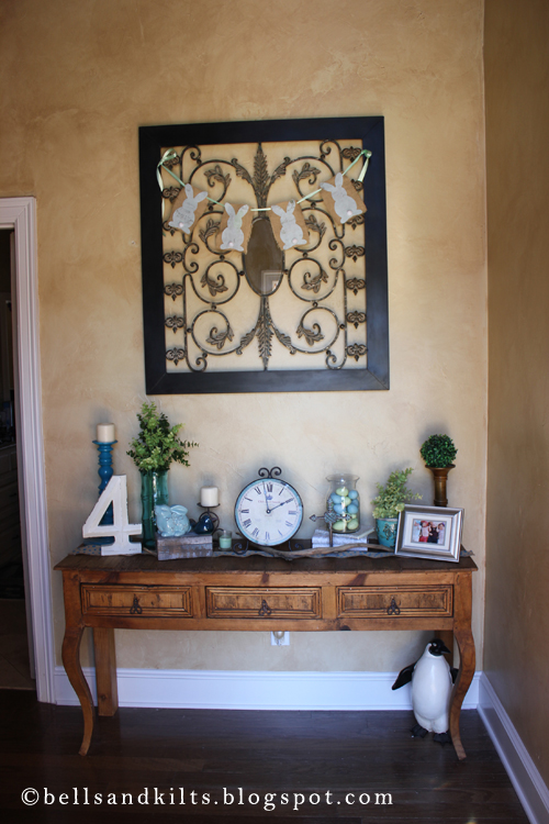home decor easter entry table kid crafts - Entry Table Decor