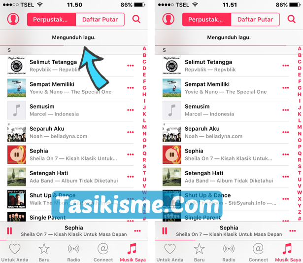 cara download lagu di iPhone