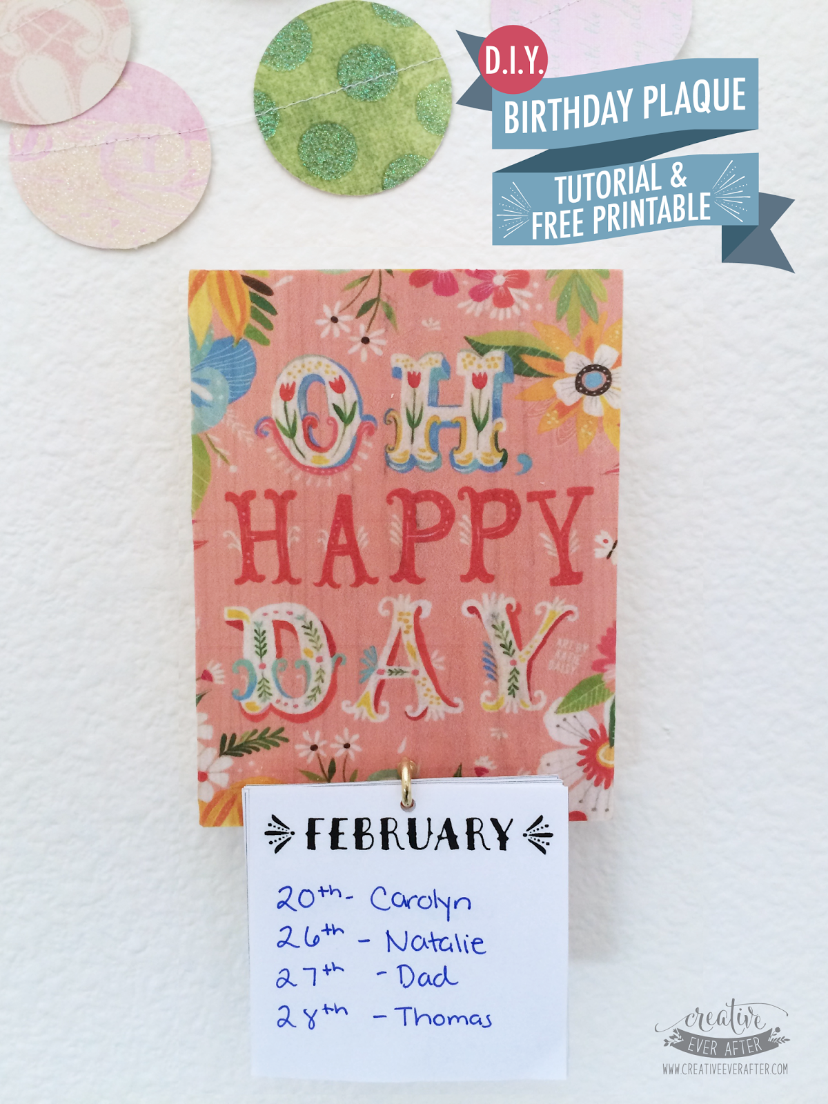 Diy Birthday Calendar : Diy birthday calendar plaque tutorial and free