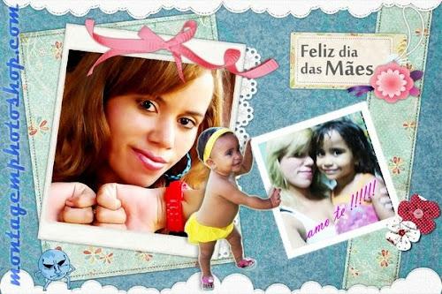 Cartão personalizado com fotos dia das mães no Photoshop