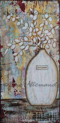 mixed media painting, Sue Allemand, copyright 2013, art print